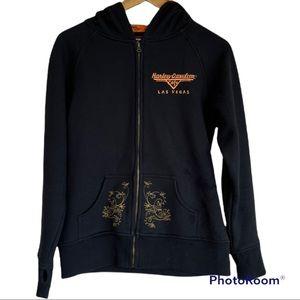 HARLEY-DAVIDSON HD zip up embroidered hooded sweatshirt hoodie